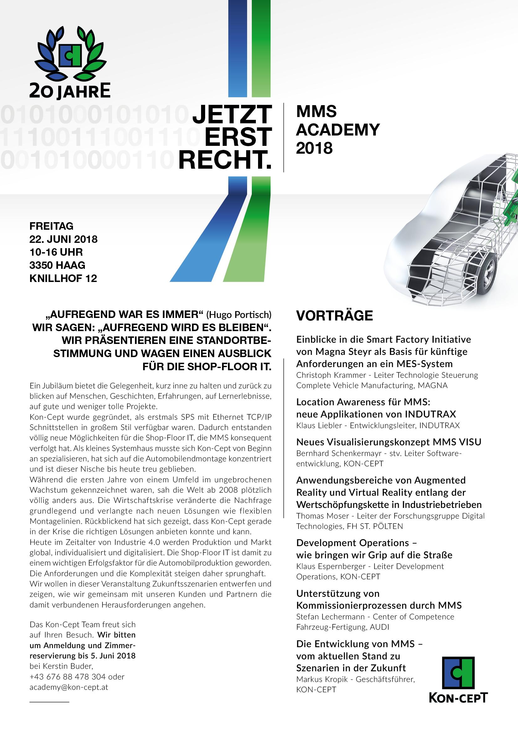 MMS Academy 2018 Programm